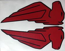 Buell EBR Pegasus Decals. 1 Pair. Red with Black outline. Or choose your colors.