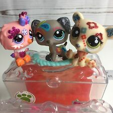 3 Littlest Pet Shop LPS  Shimmer 'N Shine Pets Sparkle Dog Polar Bear Owl