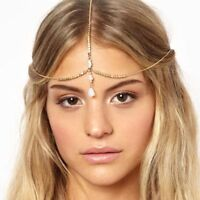 Popular Women Metal Rhinestone Head Chain Jewelry Headband Head Piece Hair band