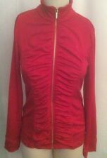 New 80 Ellen Tracy Athleisure Ruched Jacket Red Size Medium Fits 6 Best