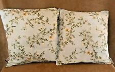 "16"" Ralph Lauren Inverness pillows floral fabric handmade throw bed pair cases"