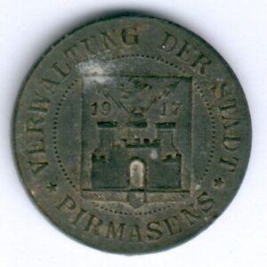 Kleingeldersatzmarke Pirmasens 5 Pfennig o.D. -Zink D.19,27mm, ss