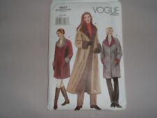 VOGUE Sew Pattern 7627 Reversible Coat 3 lengths size XS,S,M Uncut Easy  yr 2002
