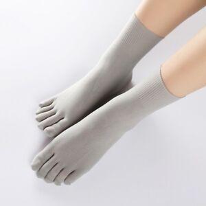 1/5Pair Women Mens Toe Five Finger Socks Elastic Silk Stockings Short Ankle Sock
