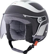 """Casco moto Caberg Jet Uno Glam nero opaco pelle, taglia 54 """"XS"""""""