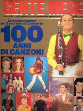 GENTE MESE 1986 LA MUSICA ITALIAN 100 ANNI DI CANZONI  OLTRE 120 PAGINE FOTO
