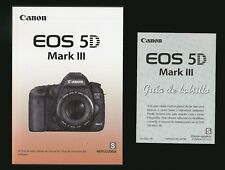 CANON EOS 5D MARK III DIGITAL SLR CAMERA OWNERS INSTRUCTION MANUAL -SPANISH TEXT