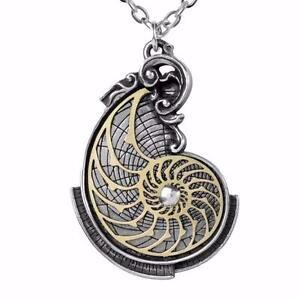 ALCHEMY FIBONACCI GOLDEN RATIO Spiral Nautilus Shell Pendant  +  FREE GIFT BOX