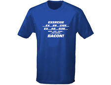 Exercise, Eggs Are Sides Bacon Funny Mens T-Shirt (12 Colours)