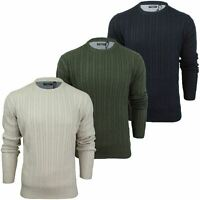Mens Jumper by Brave Soul 'MAO' Cable Knit Crew Neck