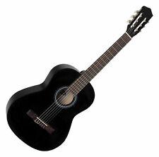 Guitare Classique Acoustique Debutants Enfants 6 Corde Nylon Taille 4/4 Noir