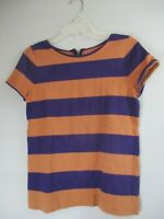 Ann Taylor LOFT Women's Size Small S Striped Short Sleeve Blouse Shirt Top