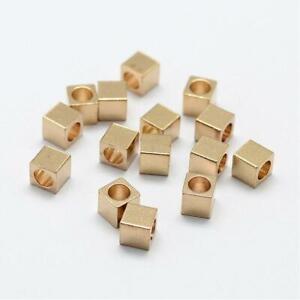 50 x Metallperlen Messing 3,5mm