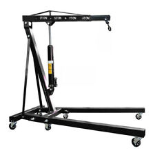 Folding 2 Ton Hydraulic Engine Crane Hoist Stand Lifting Garage Jack Black Units