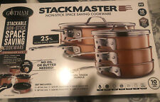 Gotham Steel Stackable Pots and Pans Set – Stackmaster Complete 10 Piece Set New