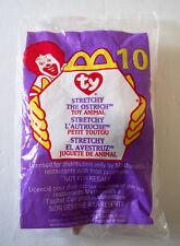 NIP VTG ©1993 TY TEENIE BEANIE BABY ©1999 McDONALDS #10 STRETCHY OSTRICH RETIRED