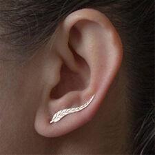 Vintage Leaf Feather Ear Climber Ear Crawler Earrings Bohemian Boho Stud Earings
