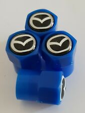 MAZDA blue valve DUST CAPS PLASTIC NON STICK All cars 7 colorS MX-5 3 5 6