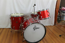"60's Gretsch kit ""red sparkle"" 20,12,16 & matching Max Roach snare drum"