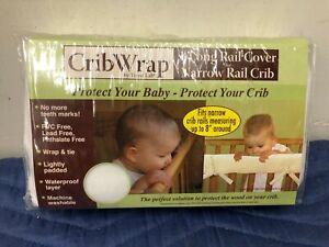 Trend Lab Fleece Crib Wrap Rail Cover for LONG NARROW Crib Rails, white