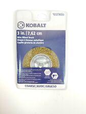 "Kobalt Wire Wheel Brush #0323655 3"" (7.62cm) COARSE 1/4"" Shank"