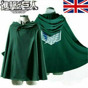 Attack on Titan Blanket Cloak Shingeki No Kyojin Survey Corp Hoodie Cape Cosplay