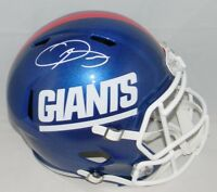 ODELL BECKHAM JR SIGNED NEW YORK GIANTS COLOR RUSH FULL SIZE SPEED HELMET JSA