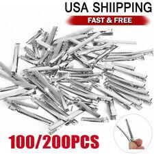 Silver Single Prong Alligator Metal Clips w/ teeth 1.75