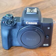Canon EOS M50 Body - Black with two original Canon batteries plus EF-EOS adapter