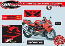 Adesivi/Stickers KIT HONDA CBR 600F SPORT O1 02 RED ALTA QUALITA!!TOP QUALITY!!