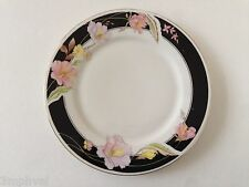 """Lynns Fine China Pearl ALICE 8860 Lily Black Ring Floral - 7-1/2"""" SALAD PLATE"""