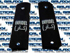 1911 TWO-TONE INFIDEL LOGO  fits mid and full colt S&W kimber para  unfaithful