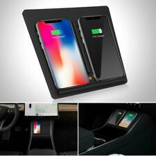 Qi Wireless Fast Charger Car Pad Mat Dual USB Fit For Tesla Model 3 2017-2019