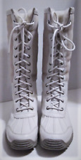 UGG Adirondack Tall White Fur Trim Waterproof Event Boots 10 W EU 42 EUC