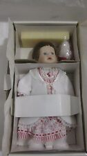 Rear Collectible Porcelain Doll 13in. Christmas Morning Melissa By Danbury Mint
