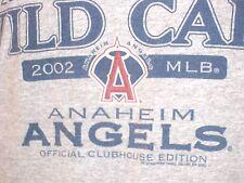 Los Angeles LA Angels of Anaheim Adult Large Wild Card T-Shirt (L 2002 Champs)