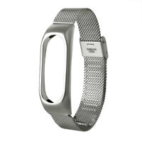 Metal Wristbands Wrist Strap Band Bracelet Replacement For Xiaomi Mi Band 2