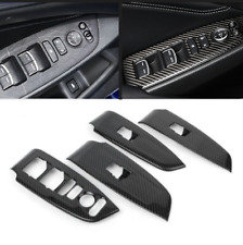 4x Steel Silver Inner Window Switch Panel Cover j Trim For Honda Accord 2018-19