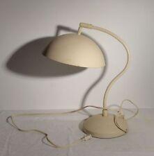 Vintage Mid century Modern Desk Lamp Light Beige White Unknown Maker
