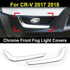 For Honda CR-V CRV 2017 2018 Chrome Front Fog Light Cover Trim Eyebrow Eyelid