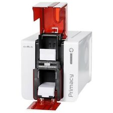 EVOLIS PRIMACY PVC CARD PRINTER Single Sided USB ETHERNET RED RIBBONS CARDS SOFT