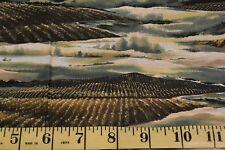 Scenic Sprawling Grape Vineyard Cotton Fabric RJR Fabric