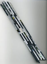 Bordüre anthrazit grau Marmor Naturstein Matchstick 4x30cm mit Perlmuttintarsien