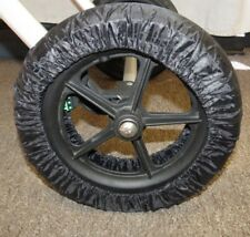 Black Elastic Wheel Tire Cover Protector For Recaro Baby Strollers 10-12 inch