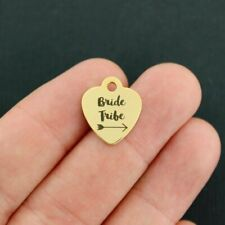 Bride Tribe Stainless Steel Charm Smaller Size BFS3464GOLD Gold Plated