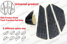 Universal Motocycle Black Gas Tank Traction Pad Side Knee Protector 3M