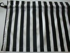 Black and White Stripe Valance Window Curtain Custom Made for Any Room/Theme