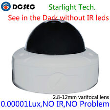 Security Sony 700TVL 1/3 CCD Color Image D&N starlight Dome Camera 2.8-12mm lens