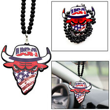 ABS Acrylic Hip-hop Style USA Bull Necklace Mirror Hanging Rearview Car Decor