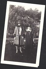 Old Vintage Antique Photograph Two Women Wearing Cool Old Time Outfits
